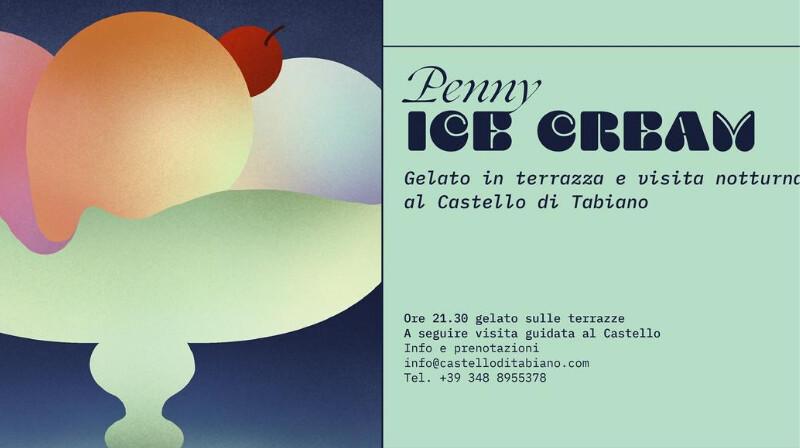 PENNY ICE CREAM Gelato in terrazza e visita notturna al Castello di Tabiano.
