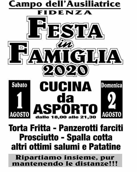 FESTA IN FAMIGLIA 2020 a Fidenza