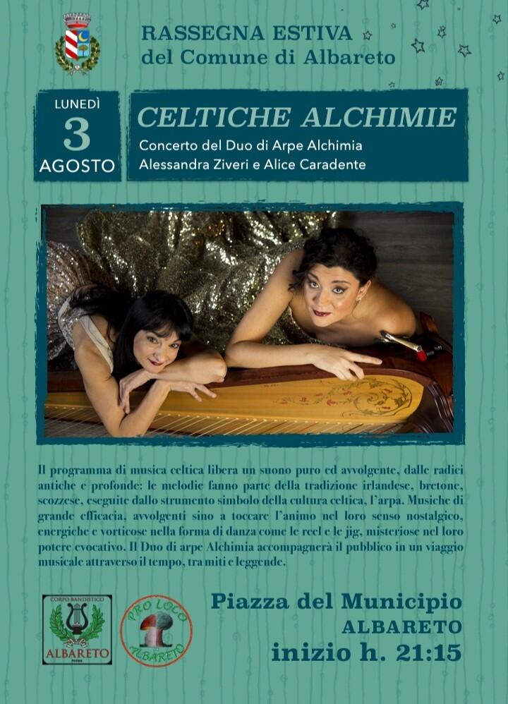 Celtiche Alchimie: concerto del duo di arpe