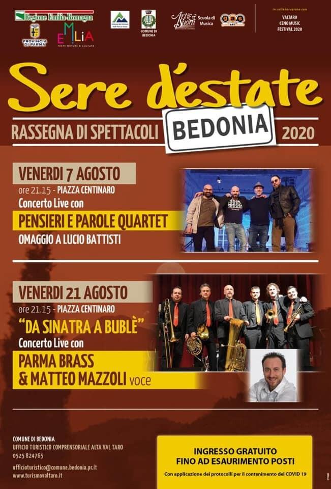 Sere d'estate : spettacoli  a Bedonia