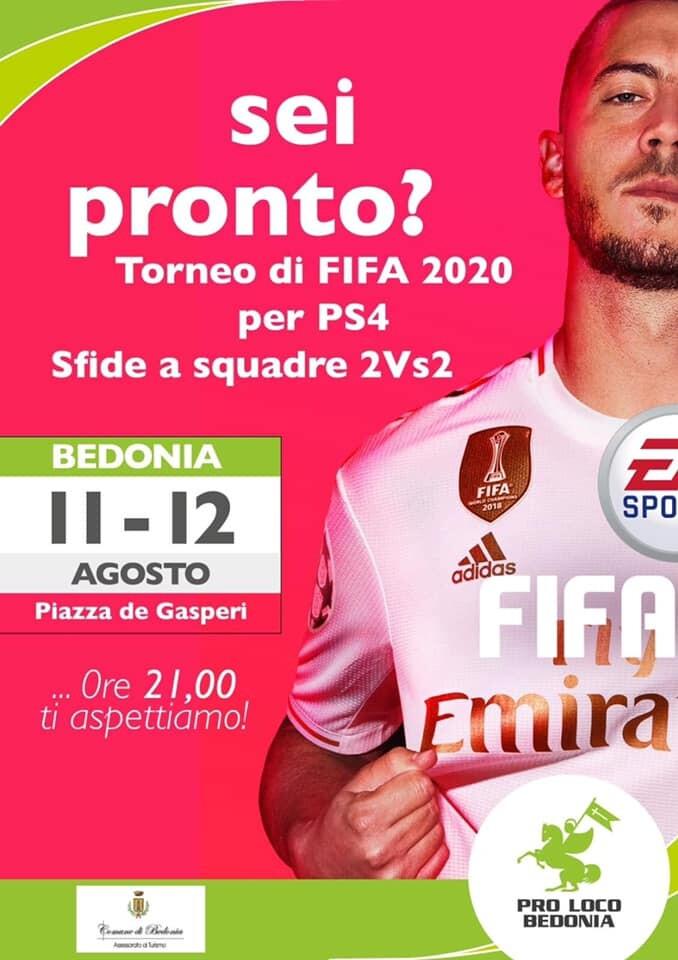 Torneo di FIFA 2020 per PS4 a Bedonia