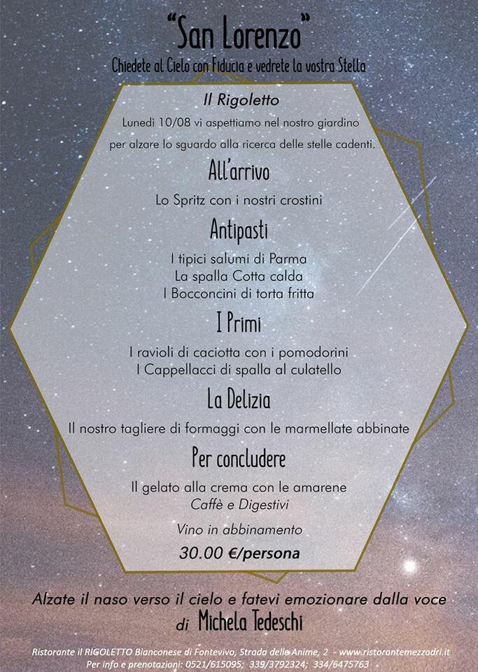 San Lorenzo al Rigoletto con la musica di Michela Tedeschi
