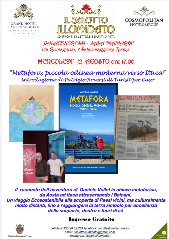 Nel  palazzo dei Congressi presentazione del libro METAFORA di DANIELE VALLET