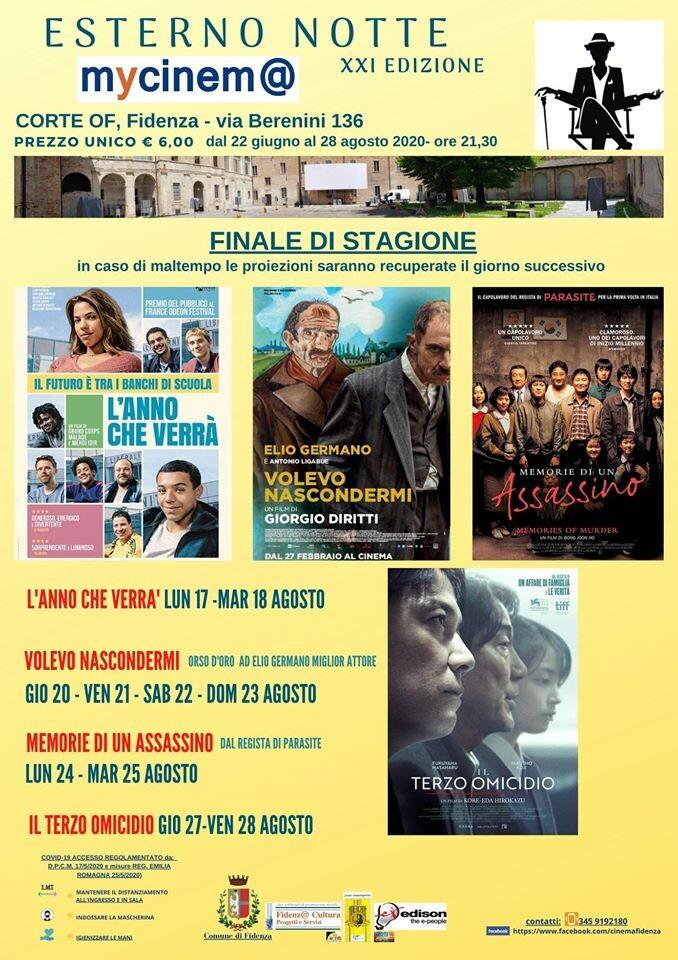 ATTENZIONE: ESTERNO NOTTE XXI NON VA (ancora) IN VACANZA!!!!  L'ATTIVITA' DEL MYCINEM@ PROSEGUIRA' FINO A VENERDI' 28 AGOSTO