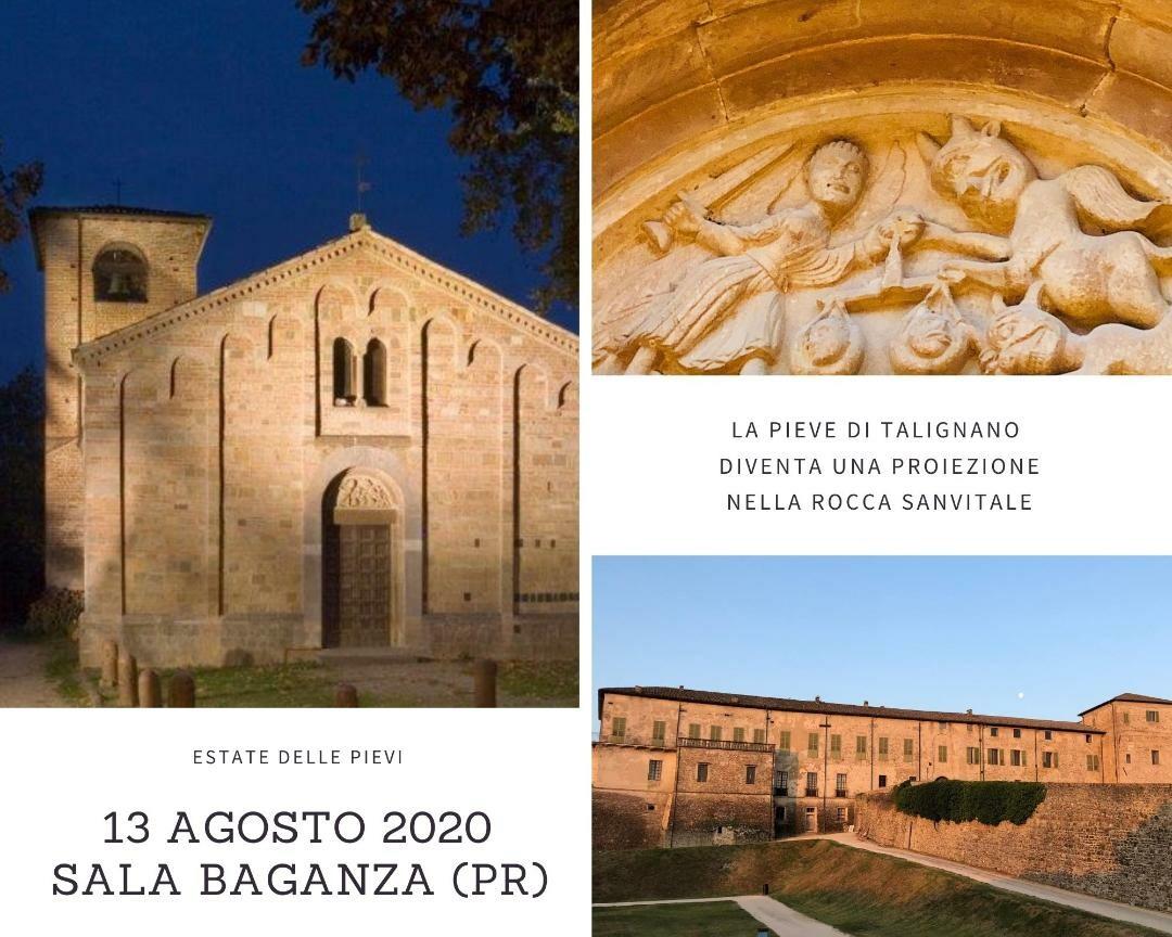 La chiesa di San Biagio di Talignano diventa una proiezione nella Rocca Sanvitale di Sala Baganza  per l'Estate delle Pievi.