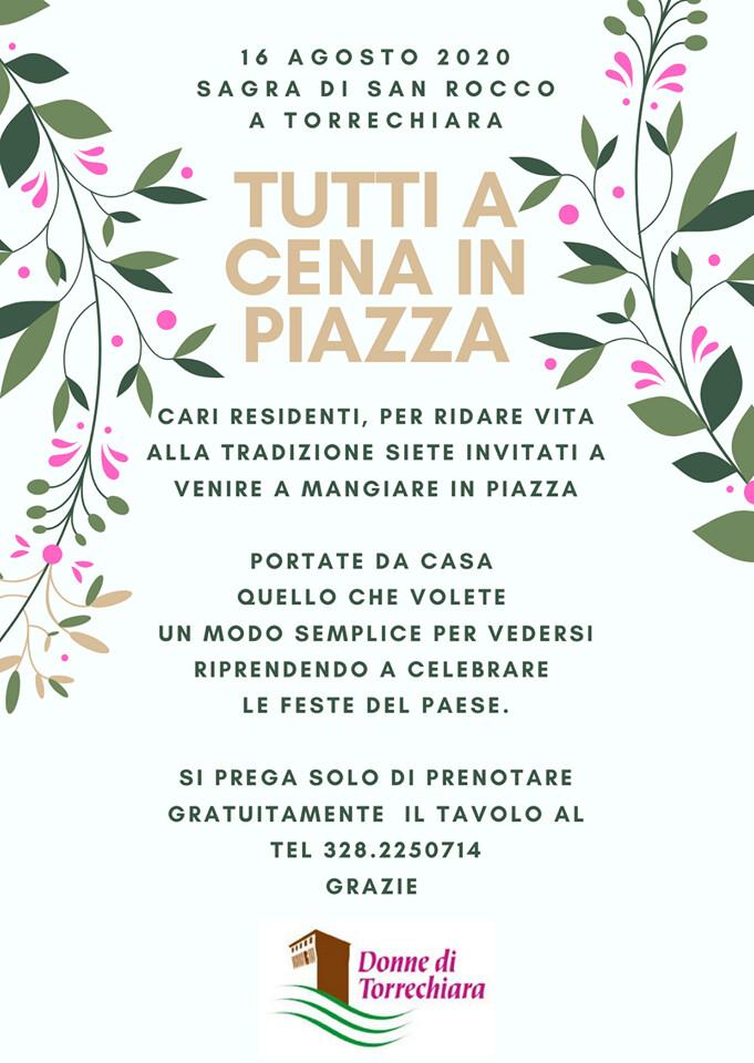 Tutti a cena in piazza a Torrechiara