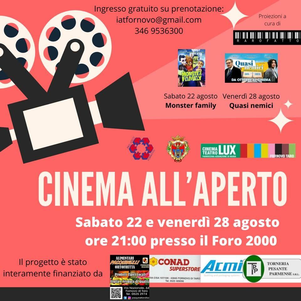 Cinema all'aperto al FORO 2000