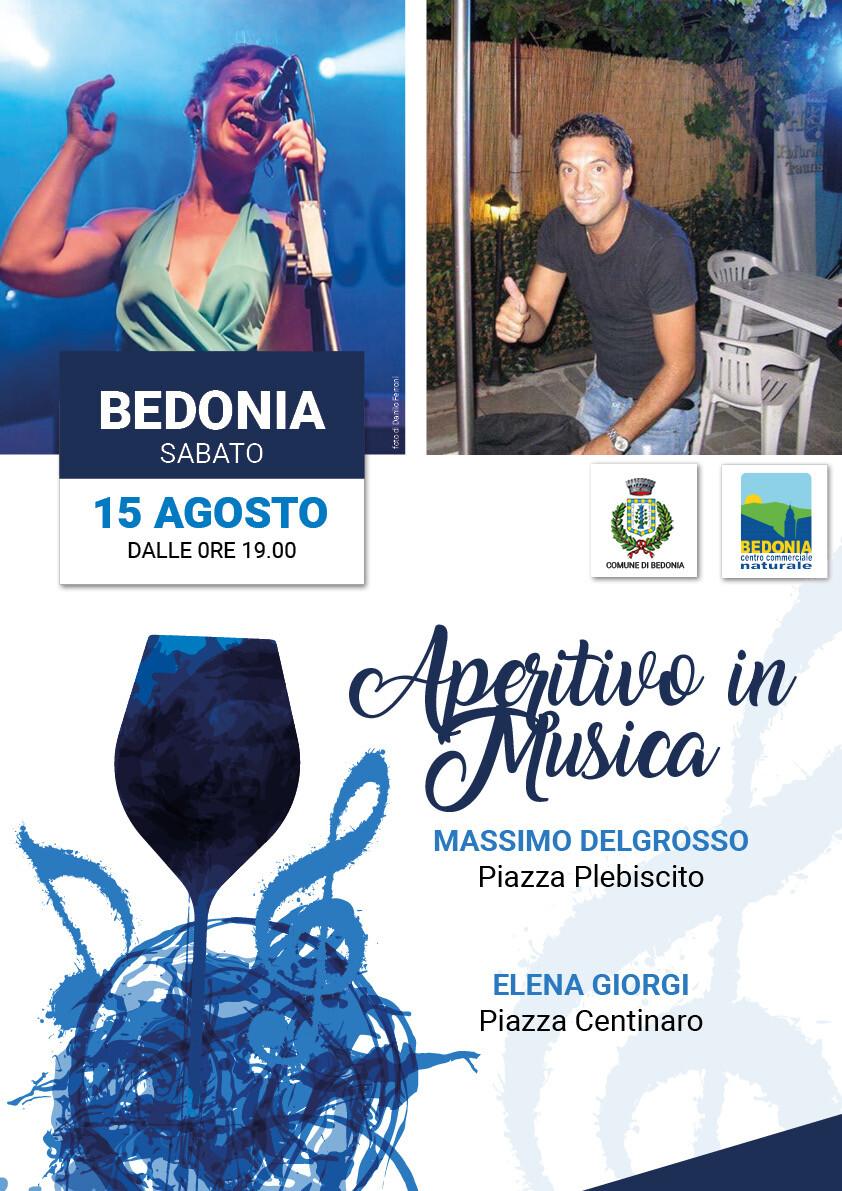 Aperitivo in musica a Bedonia  con Elena  Giorgi e  Massimo Delgrosso