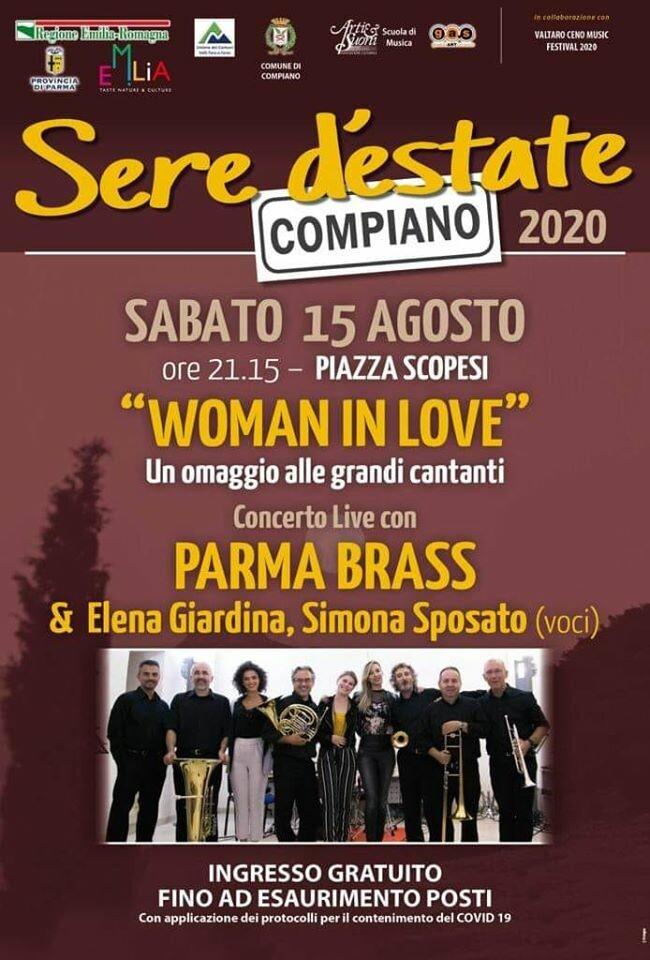 Woman in love, Parma Brass in concerto con Elena Giardina, Silvia Olari, Aura Nebiolo