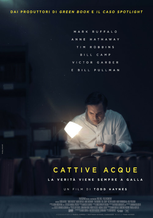 DARK WATERS-CATTIVE ACQUE  di Todd Haynes. Con:Mark Ruffolo,Anne Hathaway  all' Arena estiva del cinema d'Azeglio