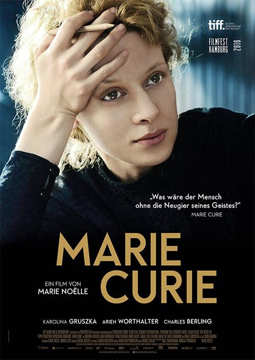 MARIE CURIE  di Marie Noelle. Con: Karolina Gruszka, Charles Berling  (Drammatico-95') , all' Arena estiva del cinema d'Azeglio