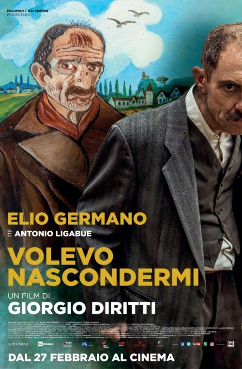 """VOLEVO NASCONDERMI  """"Nastro d'Argento""""-Miglior Film dell'anno  di Giorgio Diritti. Con: Elio Germano all' Arena estiva del cinema Astra."""