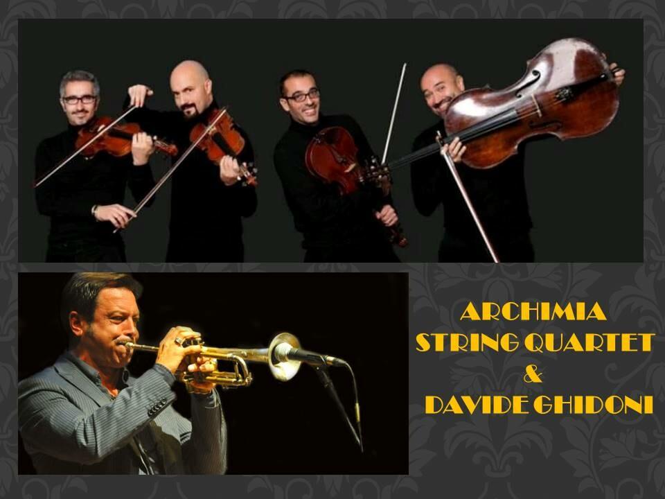 """I parchi della musica: """"Wood & Brass""""  concerto di matrice pop. swing e jazz! Archimia String Quartet"""