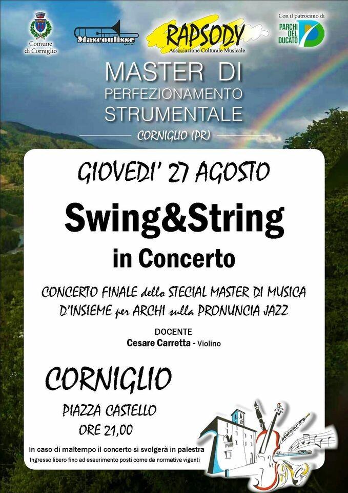 Swing & string in concerto a Corniglio