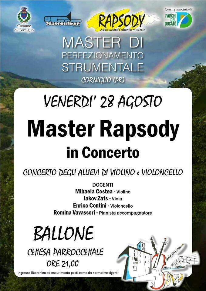 Master Rapsody in concerto a Corniglio