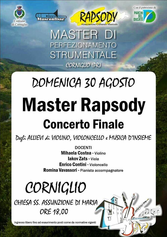 Master Rapsody  a Corniglio, concerto finale