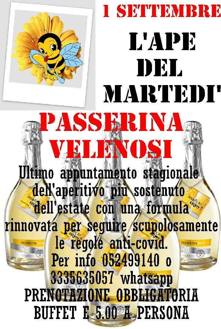 L' APE DEL MARTEDI'  Degustazione Passerina Velenosi alla Trattoria Leon d'Oro