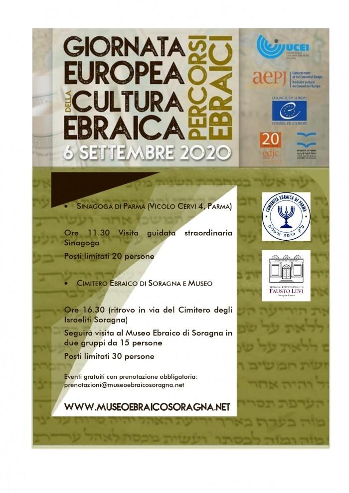 GIORNATA EUROPEA DELLA CULTURA EBRAICA a Parma e Soragna