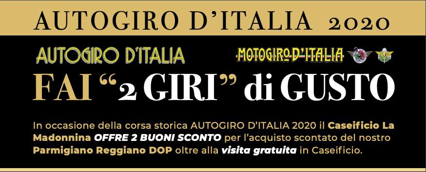 """Caseificio """"LA MADONNINA"""" :  promozione speciale tiservata a chi visiterà il Caseificio nei giorni dell'Autogiro d'Italia 2020"""