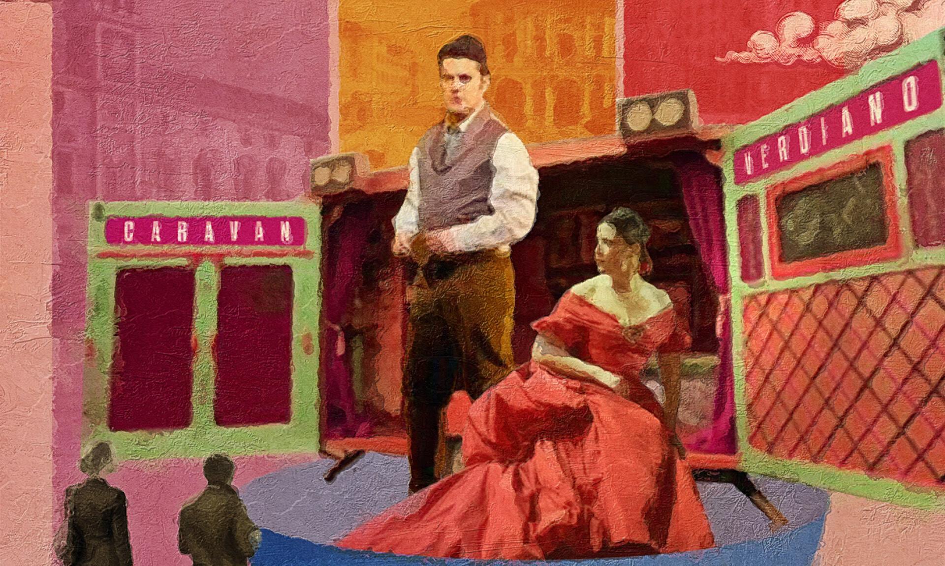 Verdi Off:  Caravan VerdianoLa Traviata  Lo spirito di Violetta  in piazzale Chaplin