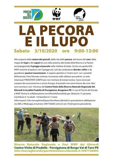 LA PECORA & IL LUPO  Visita guidata naturalistica  all'oasi dei Ghirardi