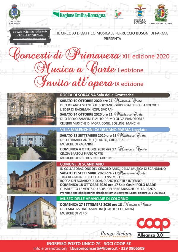 Concerti di primavera edizione 2020.