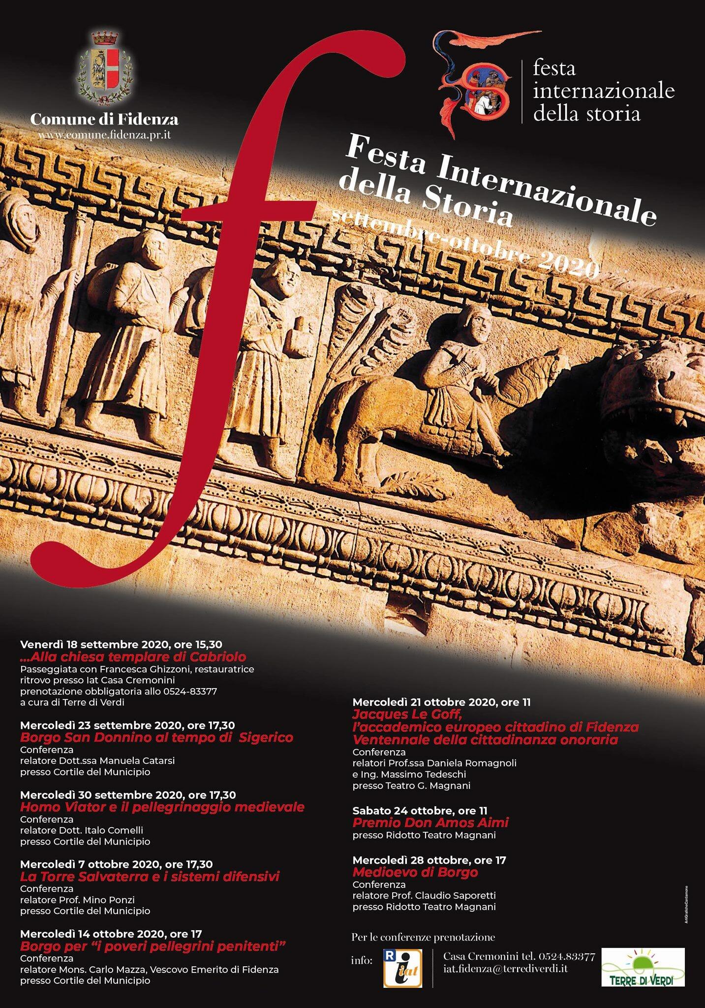 Anche Fidenza partecipa alla Festa Internazionale della Storia 2020