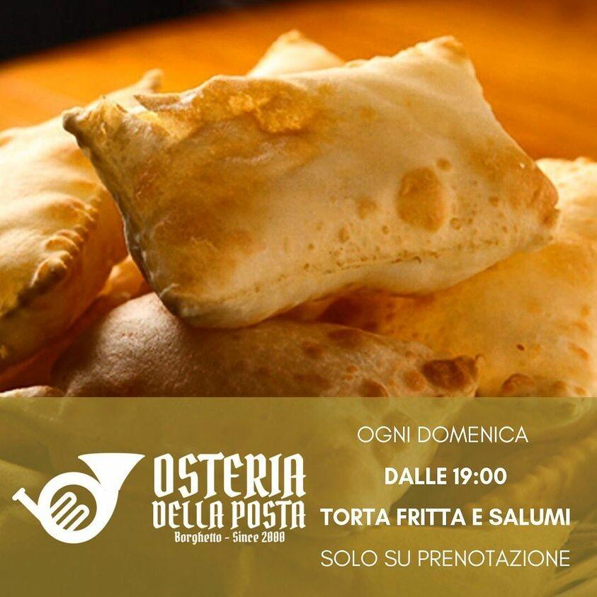 Osteria della Posta a Borghetto: TORTAFRITTA con SALUMI, FORMAGGI TUTTE LE DOMENICHE