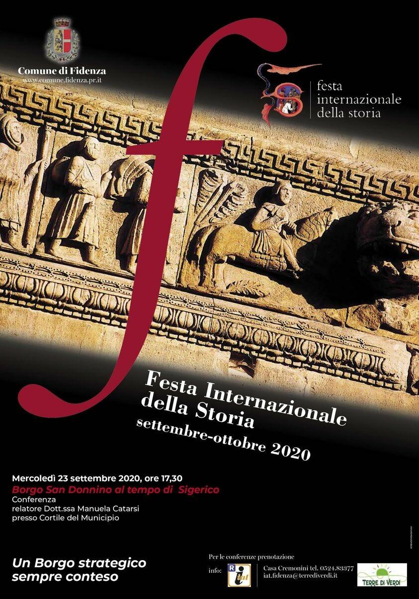"""Festa Internazionale della Storia : """"Borgo San Donnino al tempo di Sigerico"""""""
