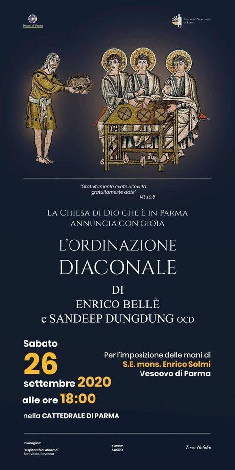 Ordinazione diaconale di Enrico Bellè e Sandeep Dungdung