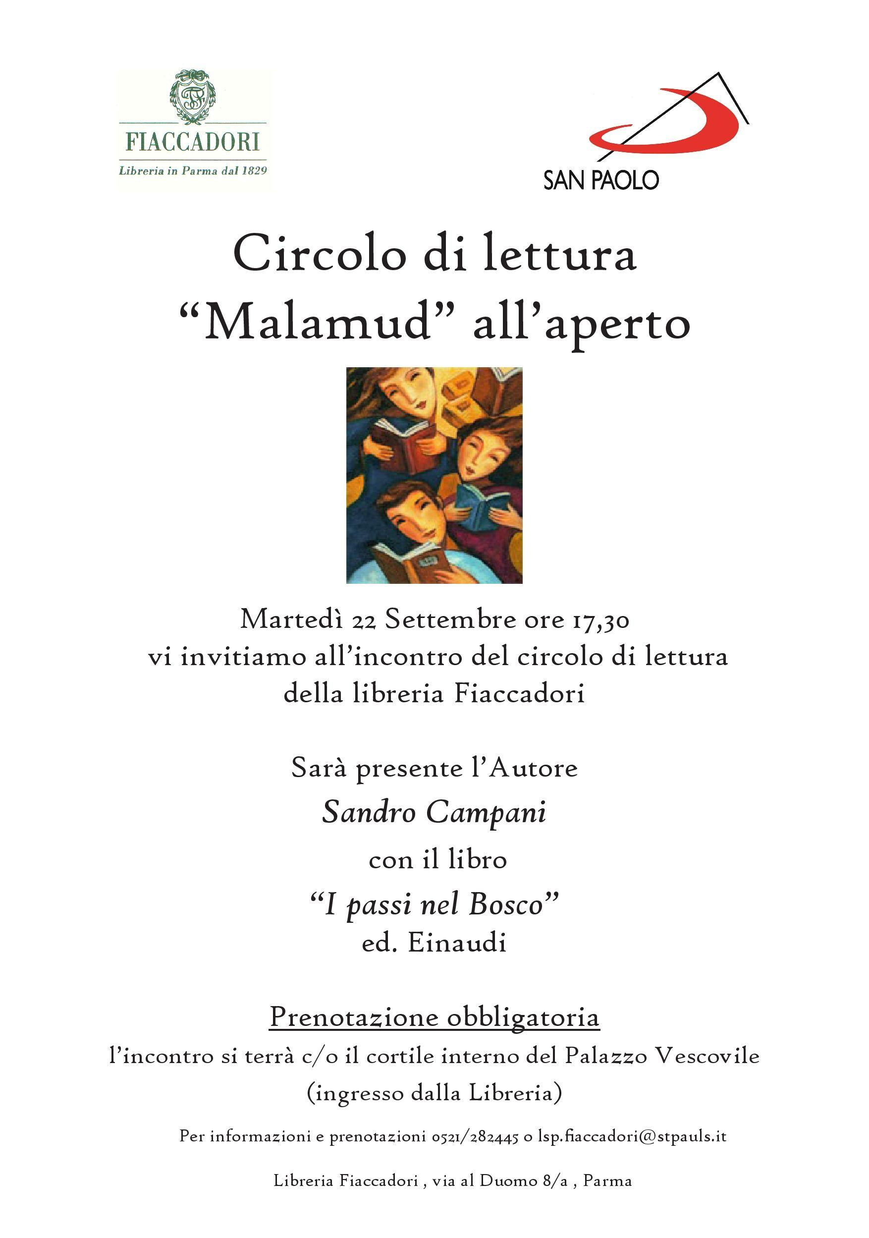 """Incontro con l'autore Sandro Campani e il suo libro """" I passi nel bosco""""."""