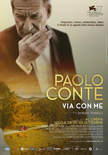 PAOLO CONTE,VIA CON ME  Evento Speciale al Festival di Venezia al cinema Astra di Parma