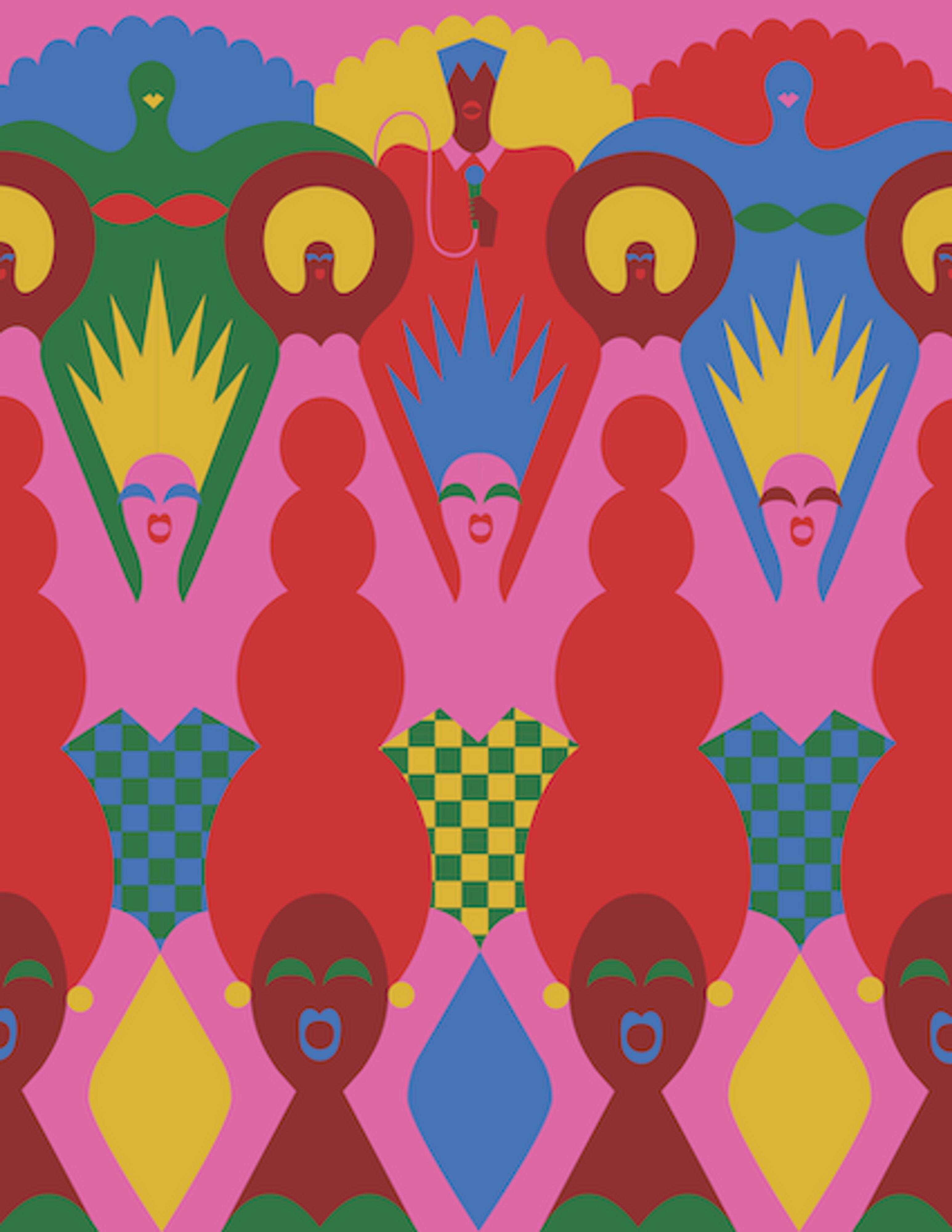 CALEIDOSCOPICA. Il mondo illustrato di Olimpia Zagnoli ,in mostra ai Chiostri di San Pietro, Reggio Emilia