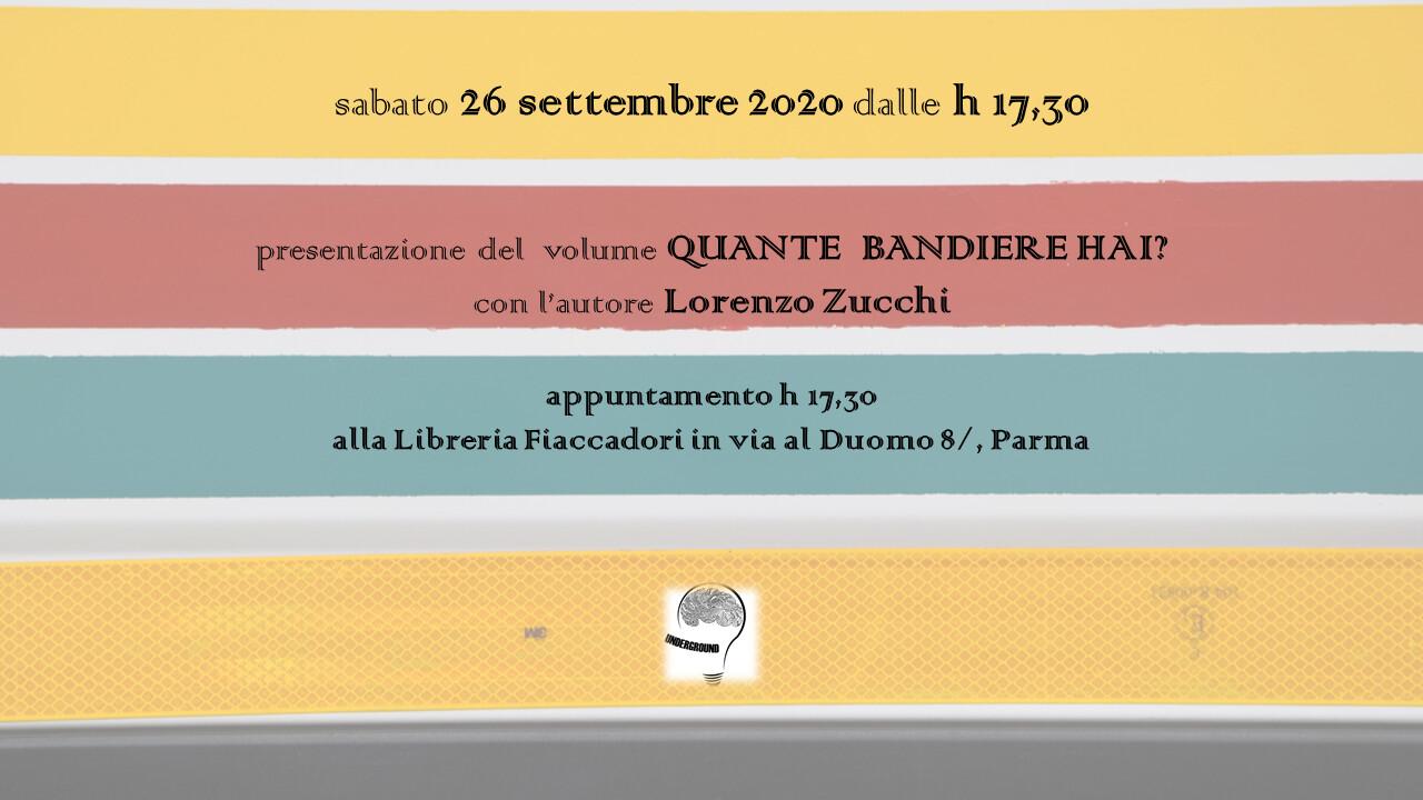 Incontro con l'autore Lorenzo Zucchi, che presenterà il suo libro 'Quante bandiere hai?'