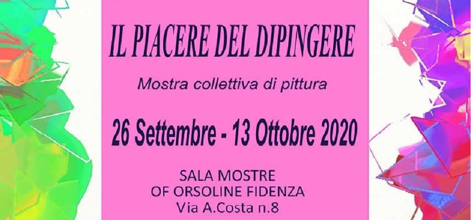 """Mostra di pittura collettiva """"Il piacere del dipingere""""  all'OF Orsoline"""