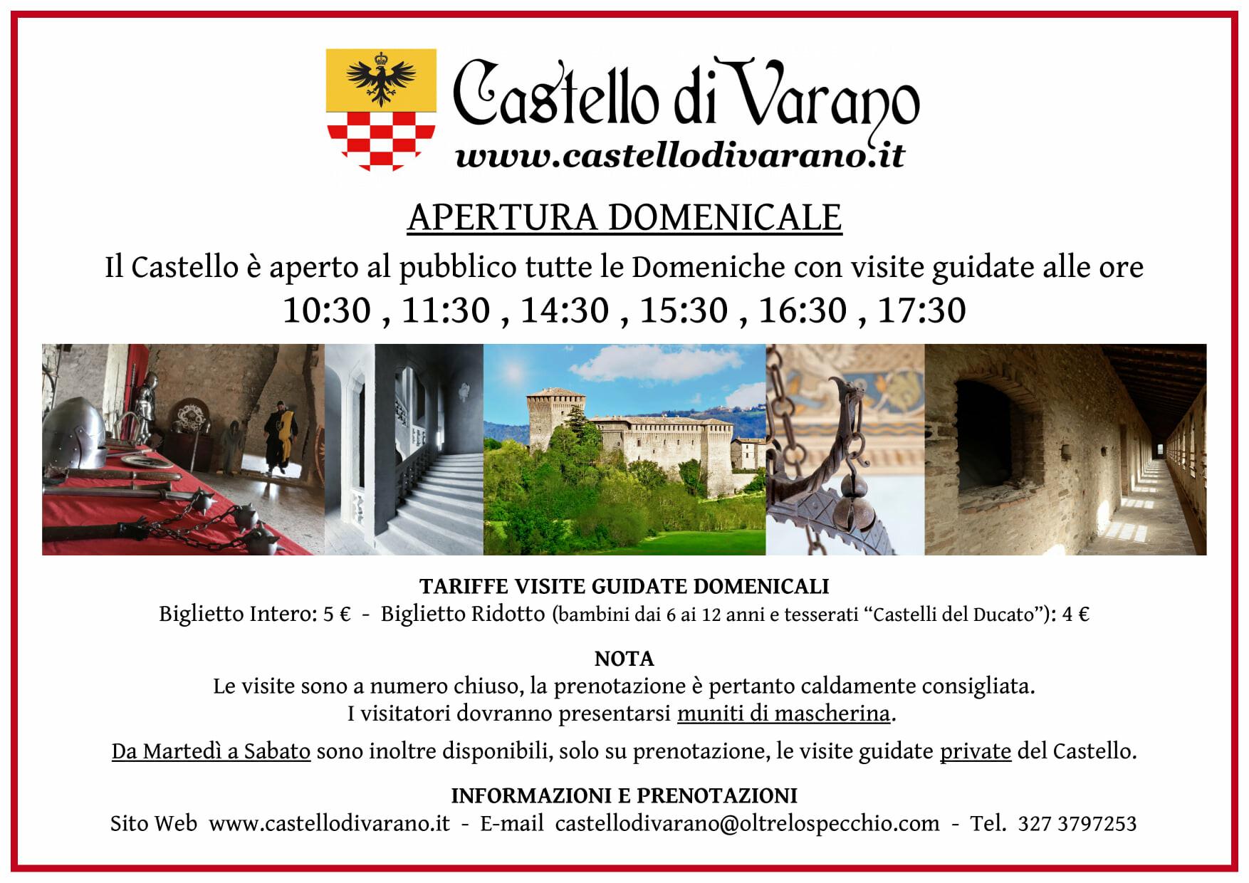 Castello Pallavicino di Varano: aperture domenicali