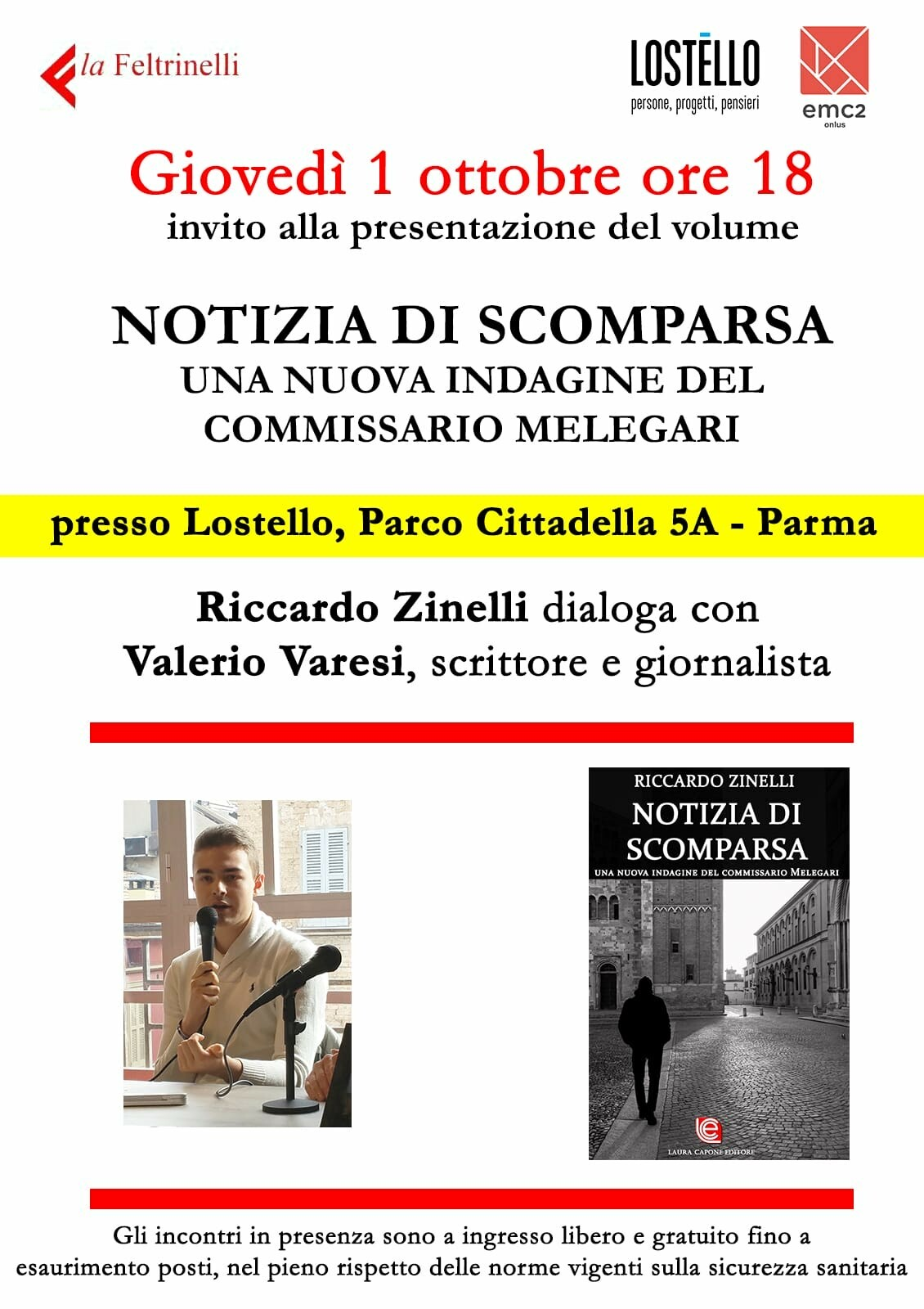 Riccardo Zinelli dialoga con Valerio Varesi