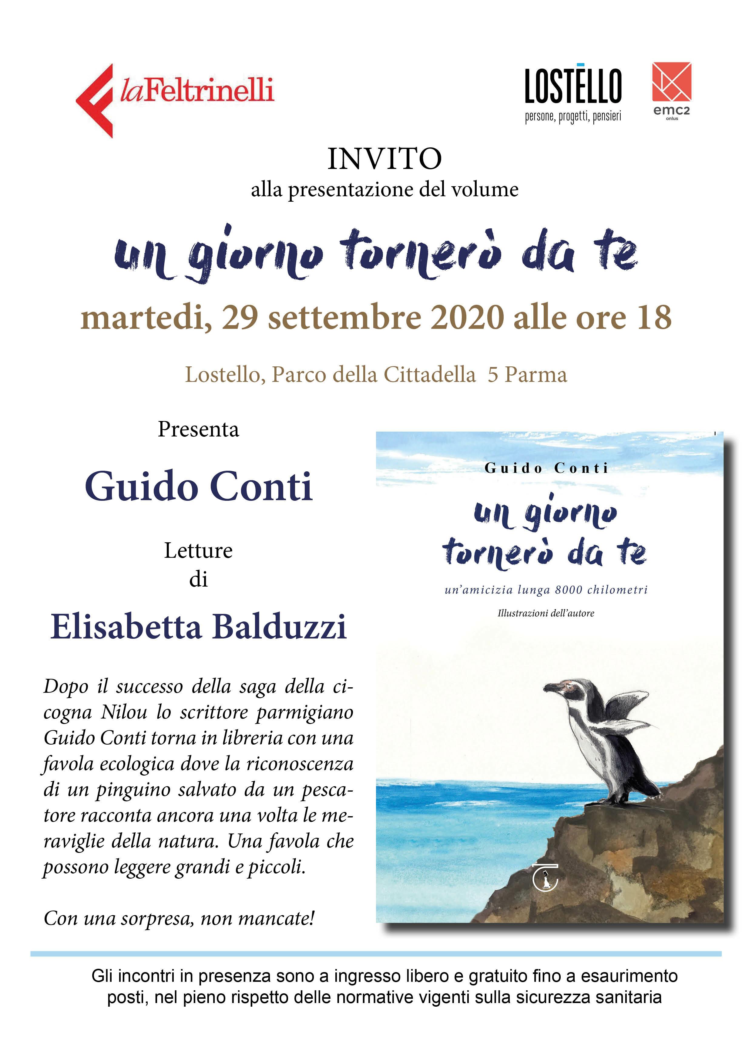 Presentazione del libro del parmigiano Guido Conti a LOSTELLO