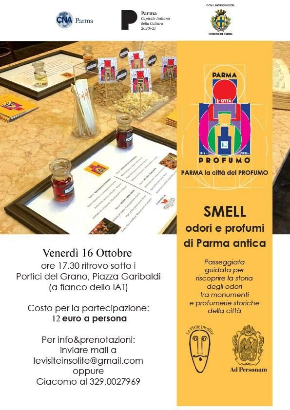 """Le visite insolite: """"Smell. Odori e profumi di Parma antica"""""""