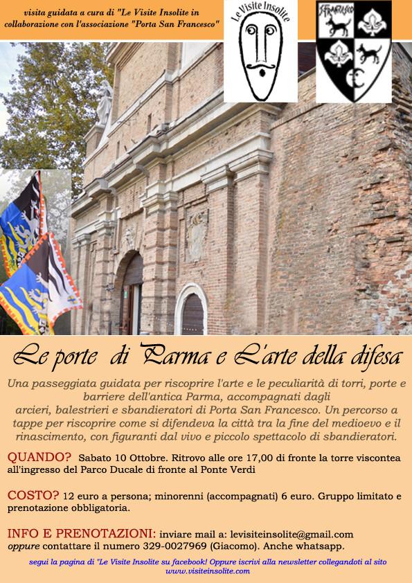 Le visite insolite: Passeggiata guidata e animata in compagnia con i rievocatori di Porta San Francesco per riscoprire la storia delle porte