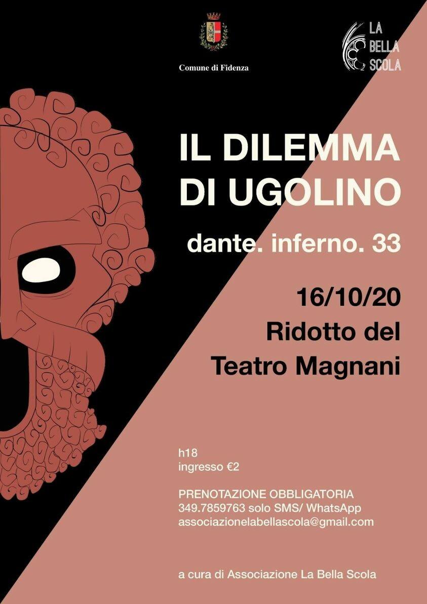 𝐋𝐄𝐂𝐓𝐔𝐑𝐀 𝐃𝐀𝐍𝐓𝐈𝐒 𝐼𝑙 𝐷𝑖𝑙𝑒𝑚𝑚𝑎 𝑑𝑖 𝑈𝑔𝑜𝑙𝑖𝑛𝑜 AL  Ridotto del Teatro Magnani Fidenza