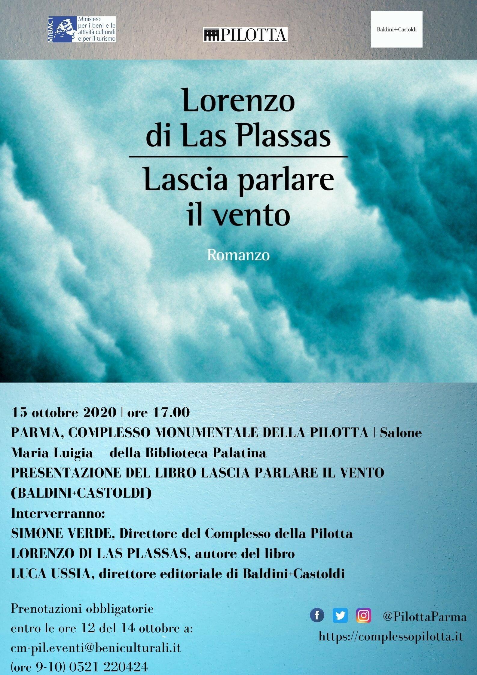 Presentazione del libro di Lorenzo di Las Plassas LASCIA PARLARE IL VENTO