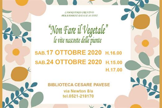 """""""Non fare il vegetale, le vite nascoste delle piante""""   alla Biblioteca Pavese"""
