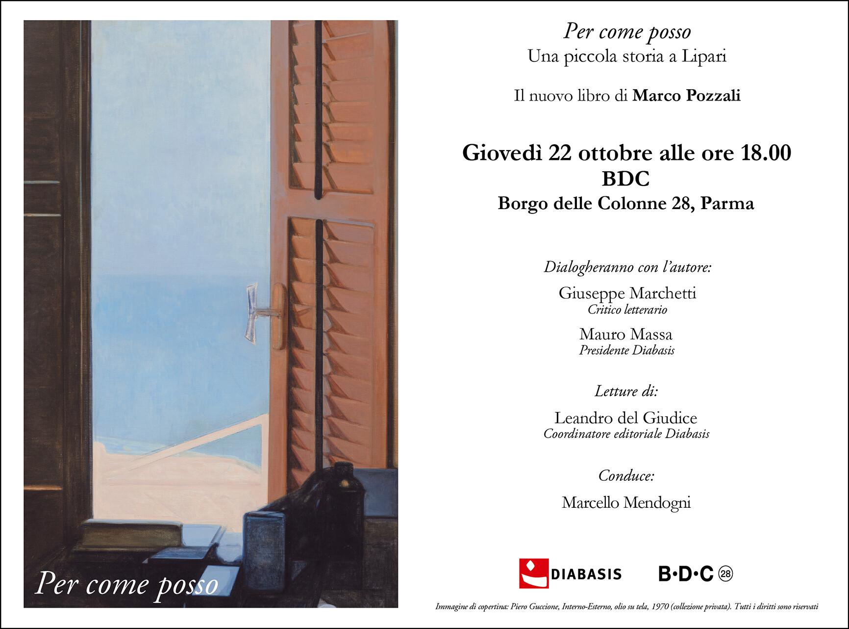 Presentazione del volume: Per come posso di Marco Pozzali