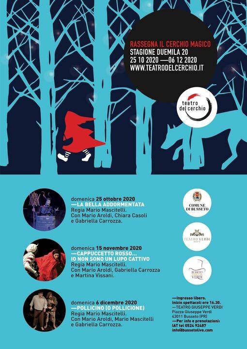 """""""Il Cerchio Magico"""" al Teatro Verdi di Busseto. Tre spettacoli imperdibili dedicati ai più piccoli"""