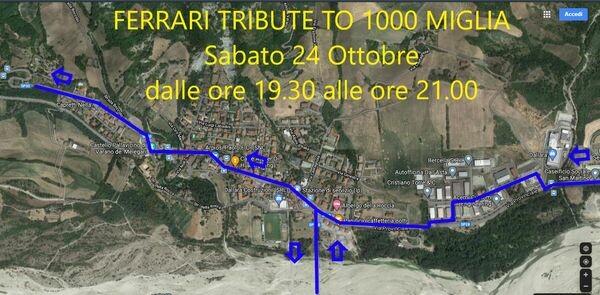 FERRARI TRIBUTE TO MILLE MIGLIA e MILLE MIGLIA a Varano