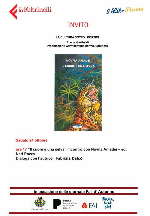 """Novita Amadei  presenta il suo libro"""" Il cuore è una selva """", sotto  i Portici del Grano"""