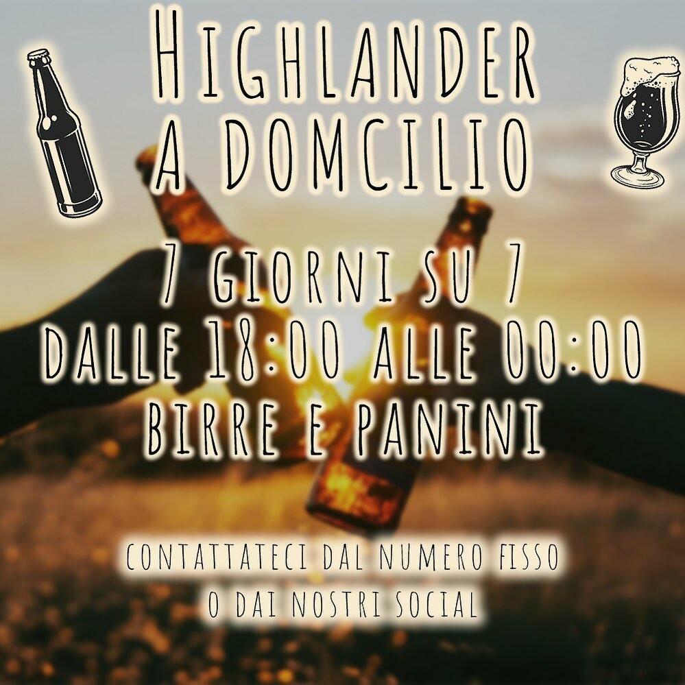Highlanderpub a Domicilio o d'asporto