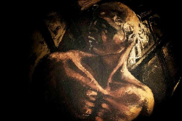 Caduto fuori dal tempo, installazione artistica di Antonella Panini  alla Galleria San Ludovico