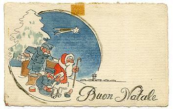 Aiuta Il Club dei Ventitré acquistando un biglietto augurale da collezione con il disegno di Babbo Natale - incavolato